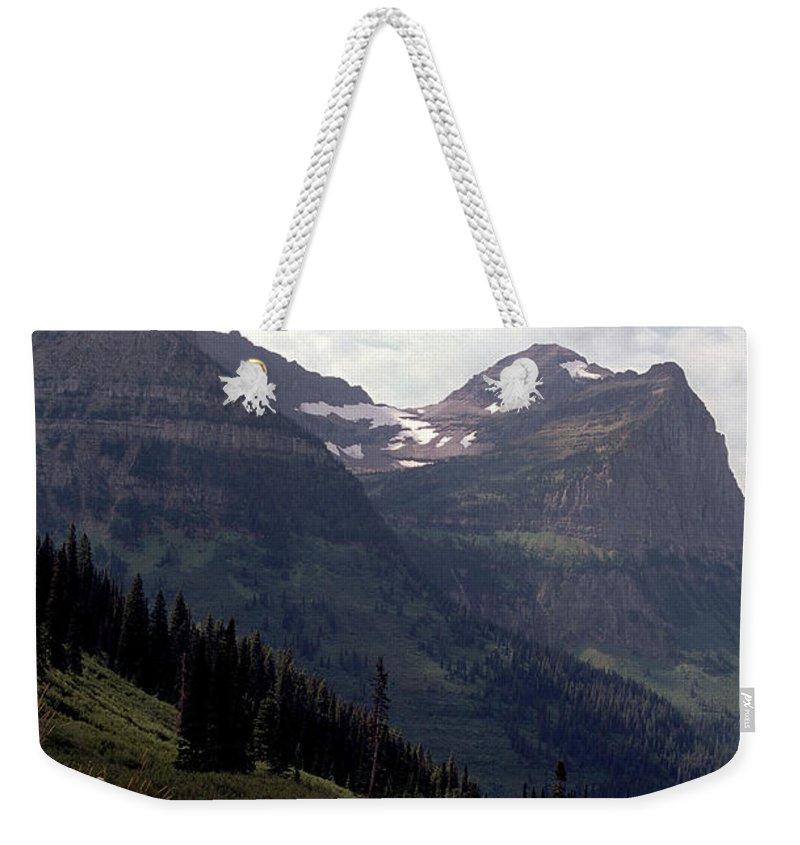 Glacier Weekender Tote Bag featuring the photograph East Glacier National Park by Sharon Elliott