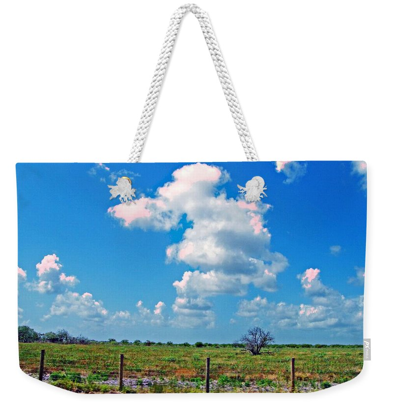 Texas Weekender Tote Bag featuring the photograph East Texas View by Lizi Beard-Ward