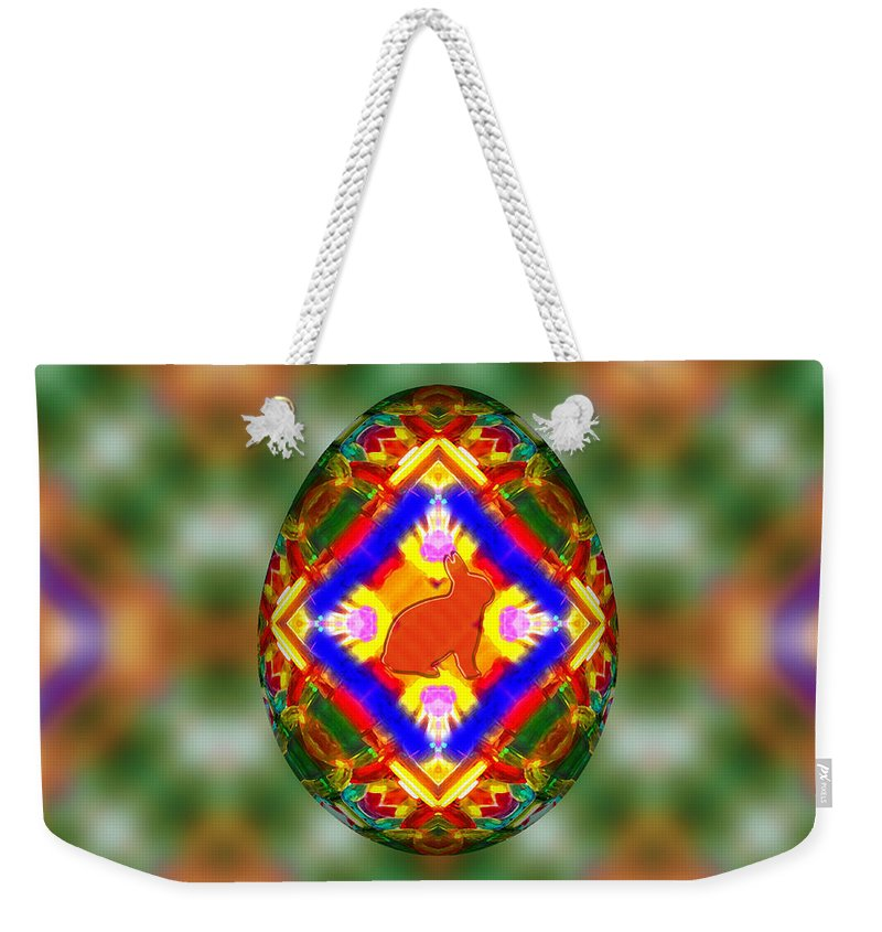 Easter Egg 3d Weekender Tote Bag featuring the digital art Easter Egg 3d by Carlos Vieira