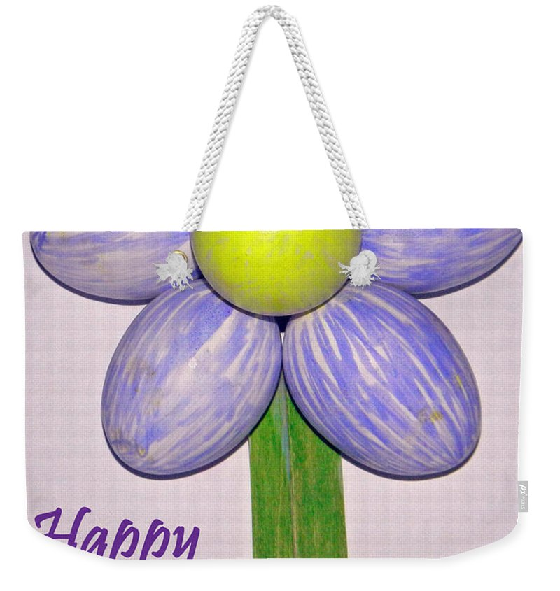 Easter Egg Flower Weekender Tote Bag featuring the photograph Easter Egg Flower by Emmy Vickers
