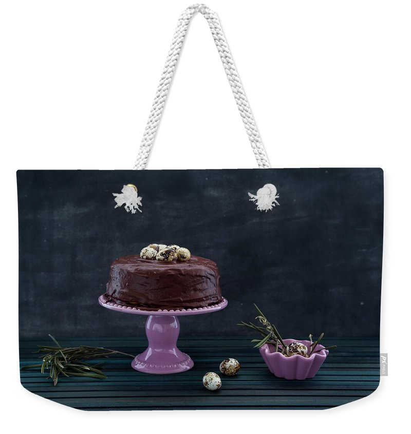 Easter Weekender Tote Bag featuring the photograph Easter Eggs by Flavia Morlachetti