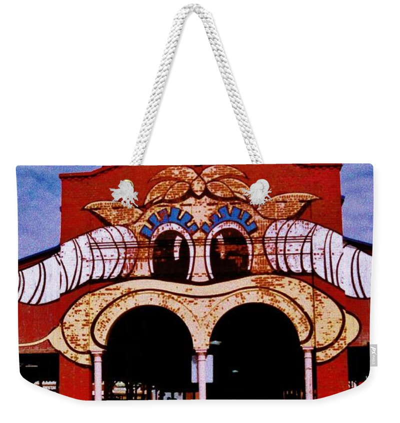 Weekender Tote Bag featuring the photograph Eastern Market Painted Barn by Daniel Thompson