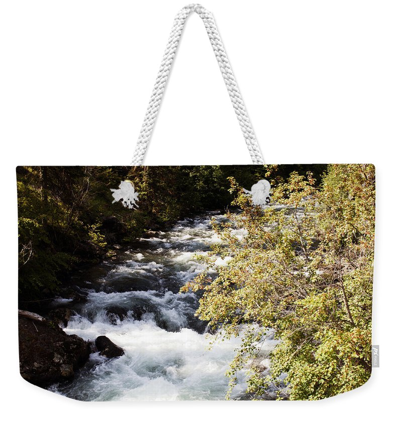 Washington Weekender Tote Bag featuring the photograph Ebb And Flow by Edward Hawkins II