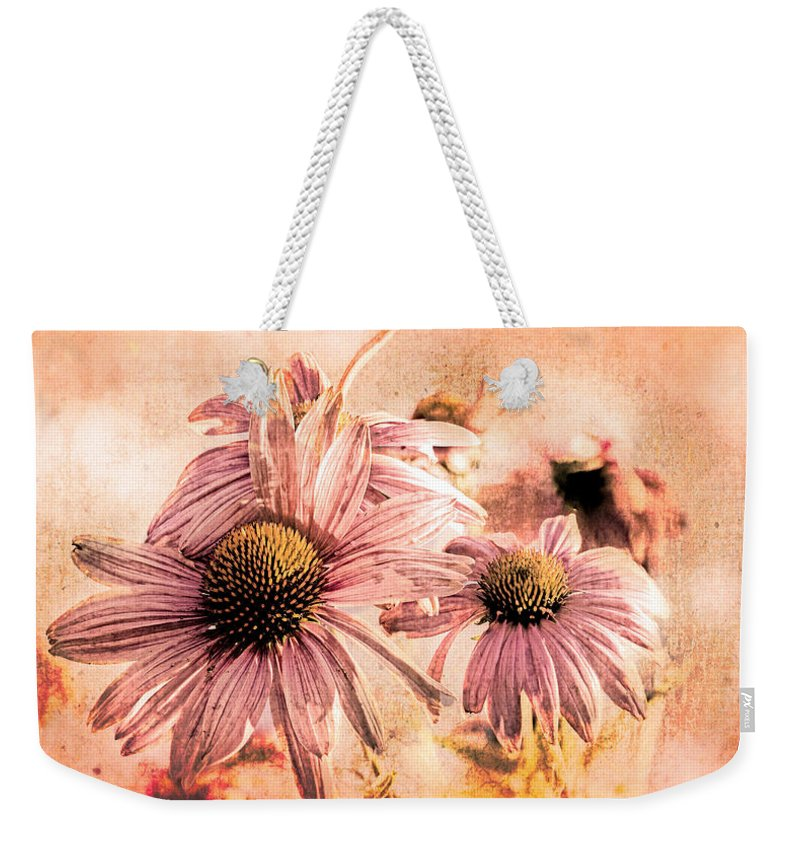 Flower Weekender Tote Bag featuring the photograph Echinacea Impressions by Bob Orsillo