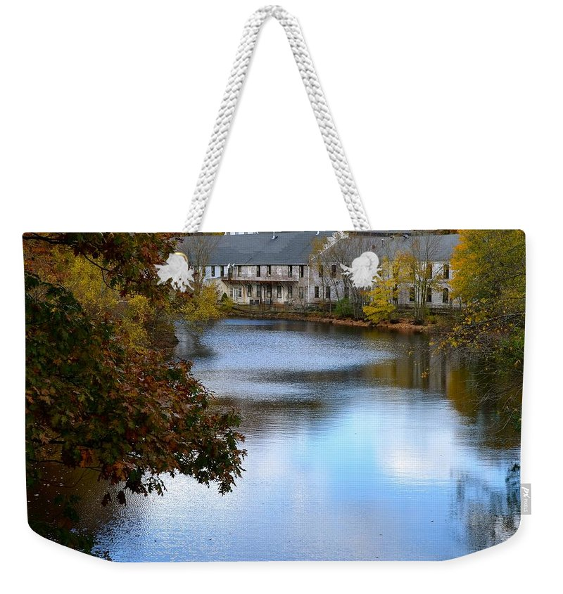 Echo Bridge Weekender Tote Bag featuring the photograph Echo Bridge by Corinne Rhode