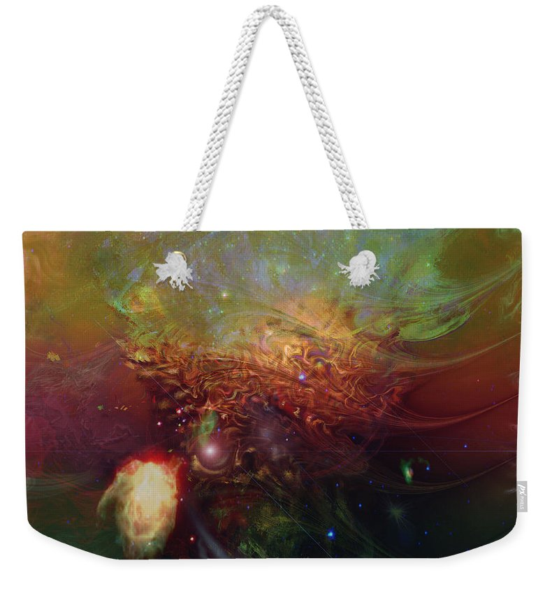 Echoes Weekender Tote Bag featuring the digital art Echoes by Linda Sannuti
