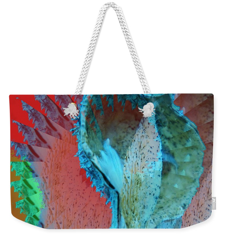 Autumn Weekender Tote Bag featuring the photograph Echoing Seed Pod by Jeff Swan