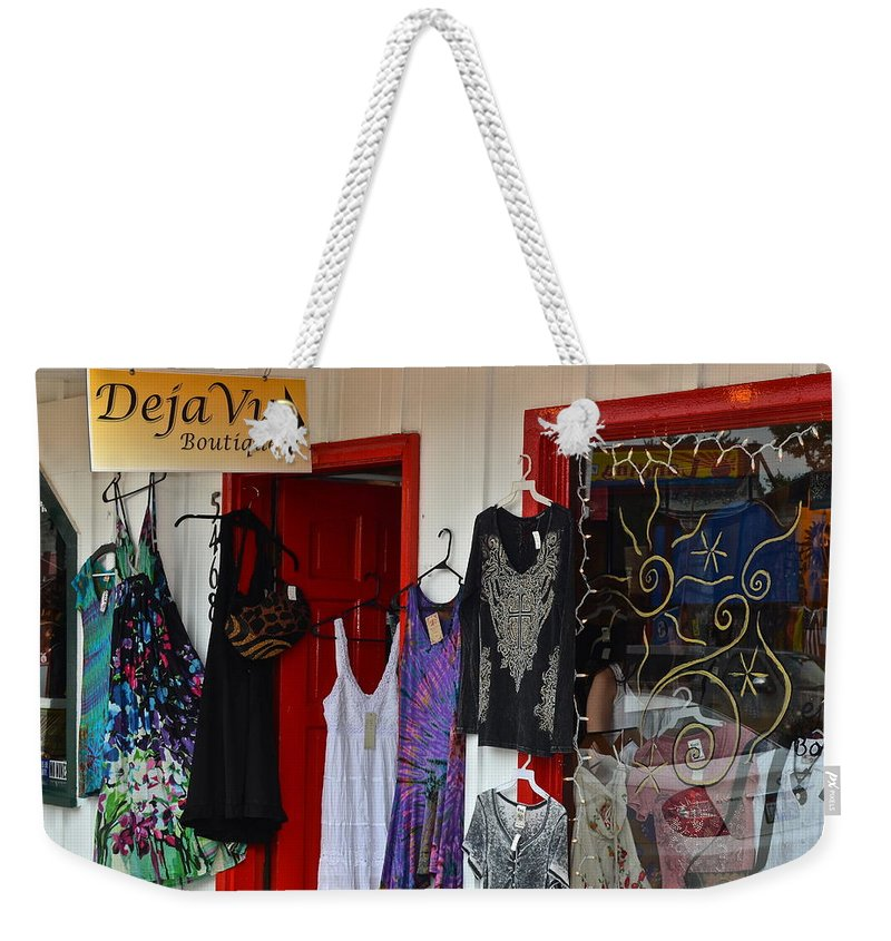 Deja Vu Weekender Tote Bag featuring the photograph Eclectic Boutique by Frozen in Time Fine Art Photography