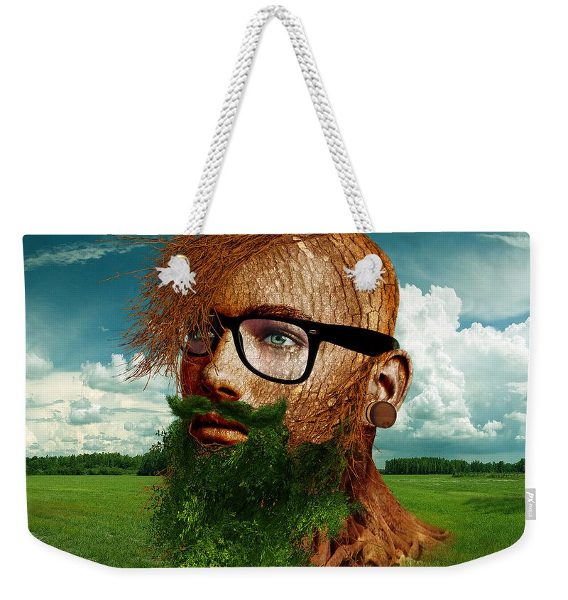 Man Weekender Tote Bag featuring the digital art Eco Hipster by Marian Voicu
