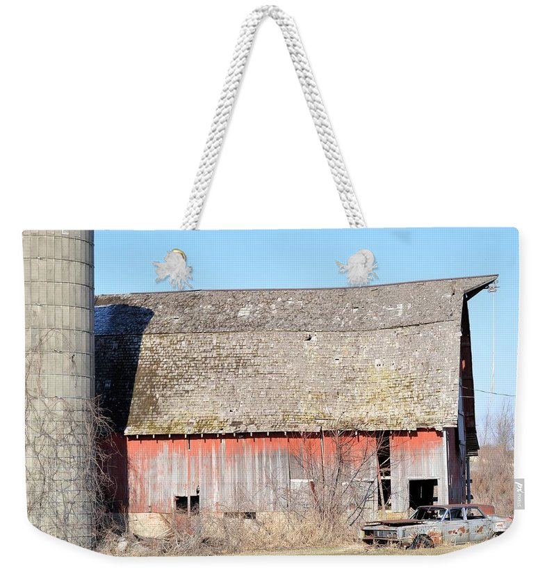 Barn Weekender Tote Bag featuring the photograph Eduring Time by Bonfire Photography