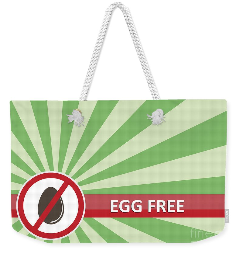 Product Weekender Tote Bag featuring the photograph Egg Free Banner by Tim Hester