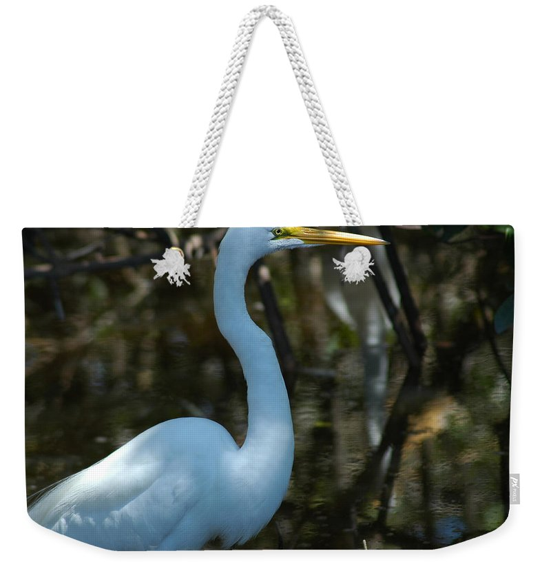 Egret Weekender Tote Bag featuring the photograph Egret Of Sanibel 3 by David Weeks