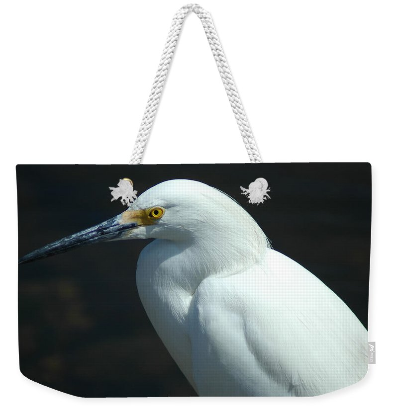 Egret Weekender Tote Bag featuring the photograph Egret Of Sanibel 7 by David Weeks