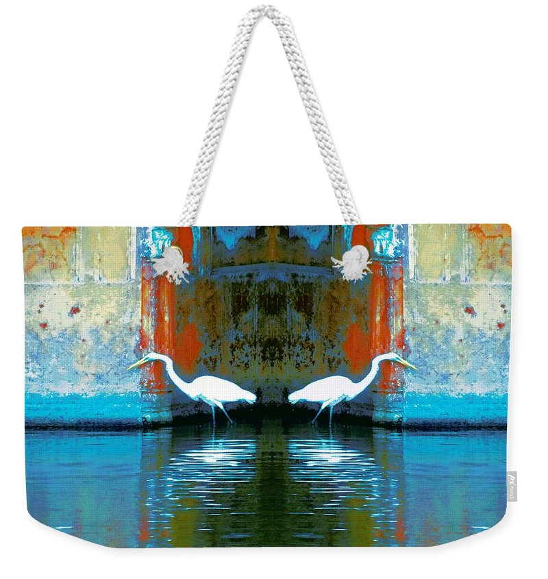 Lake Weekender Tote Bag featuring the photograph Egrets Nest In A Palace by Sue Jacobi