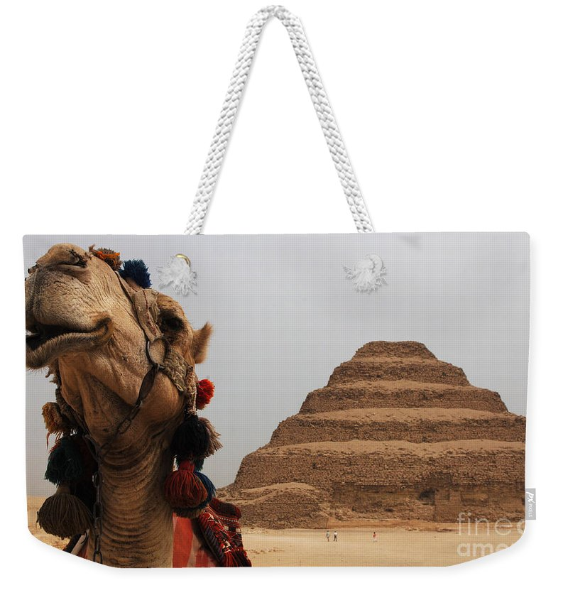 Egypt Weekender Tote Bag featuring the photograph Egypt Step Pyramid Saqqara by Bob Christopher
