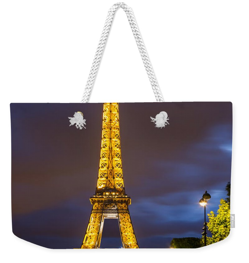 Destination Weekender Tote Bag featuring the photograph Eiffel Dusk by Brian Jannsen
