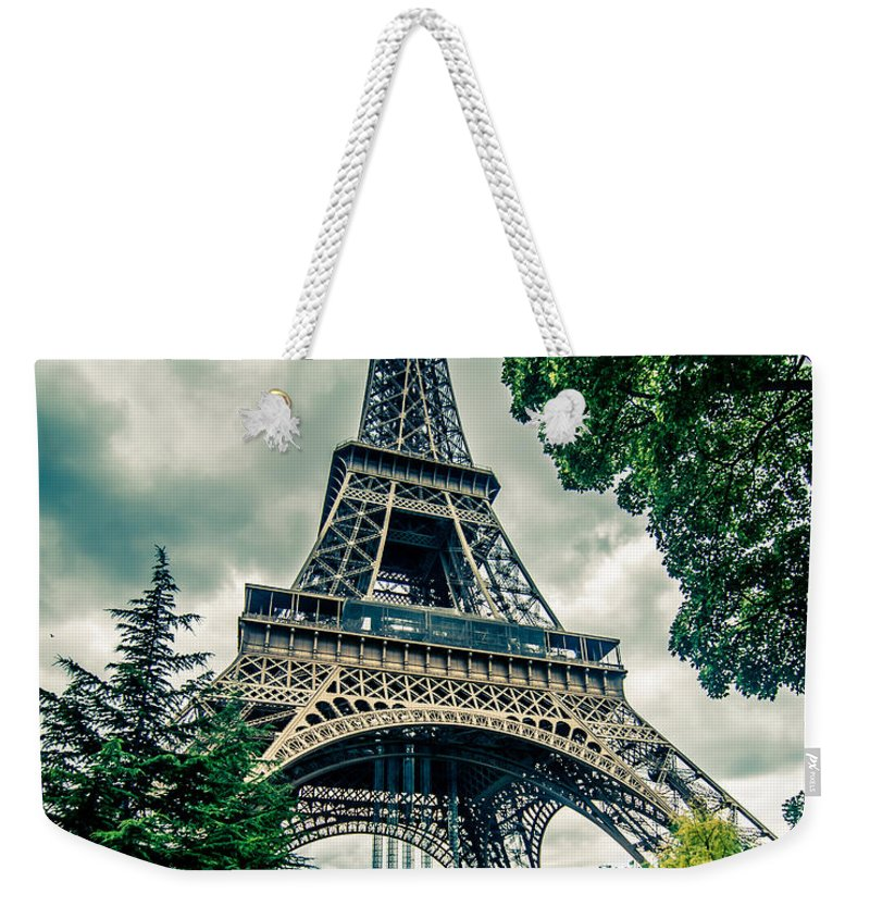 Color Weekender Tote Bag featuring the photograph Eiffel Tower In Hdr by Amel Dizdarevic