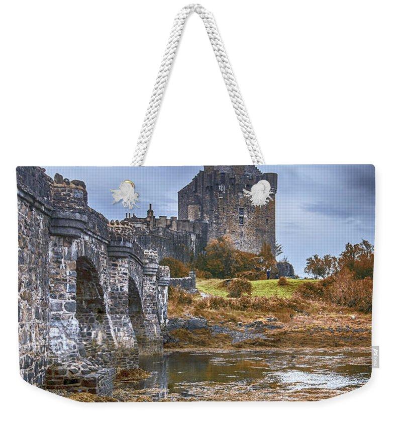 Eilean Donan Weekender Tote Bag featuring the photograph Eilean Donan Castle 3 by Chris Thaxter