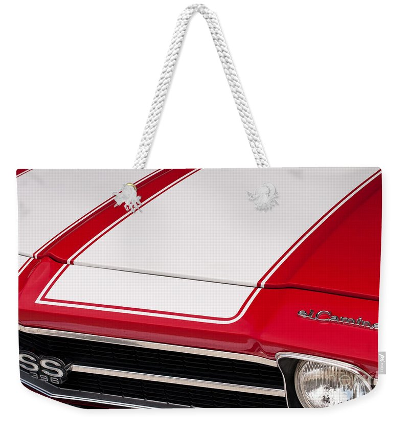 1969 Weekender Tote Bag featuring the photograph El Camino 02 by Rick Piper Photography