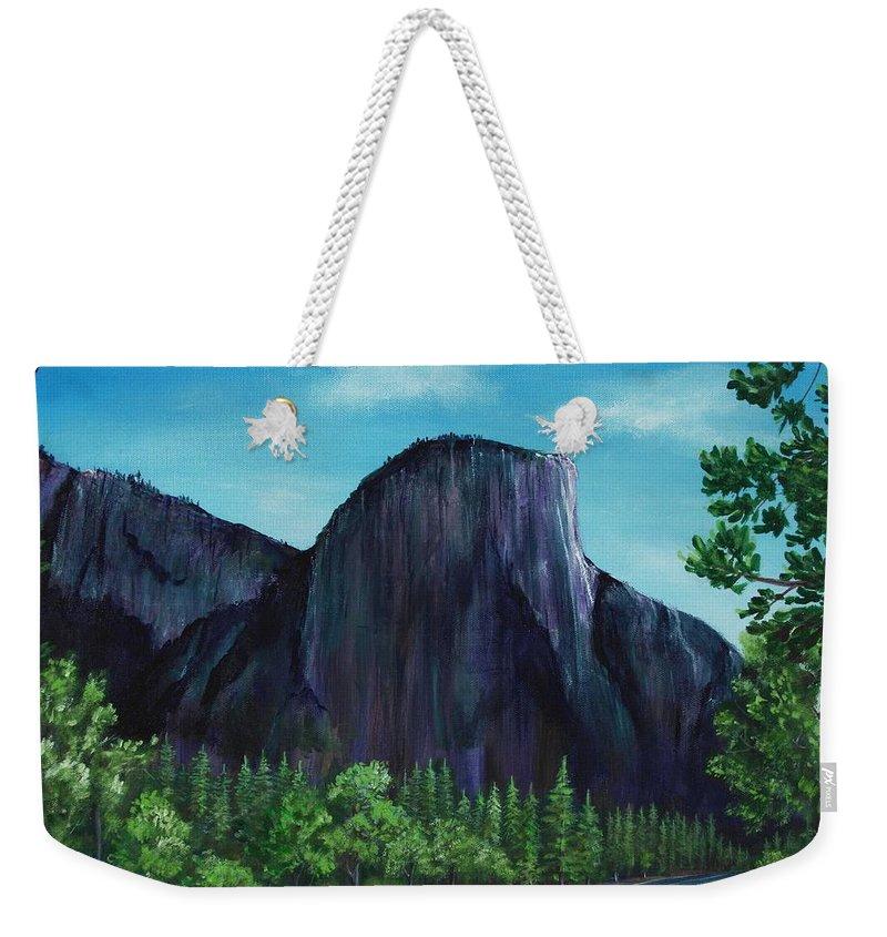 Interior Weekender Tote Bag featuring the painting El Capitan by Anastasiya Malakhova