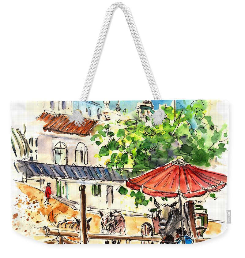 Travel Weekender Tote Bag featuring the painting El Rocio 01 by Miki De Goodaboom