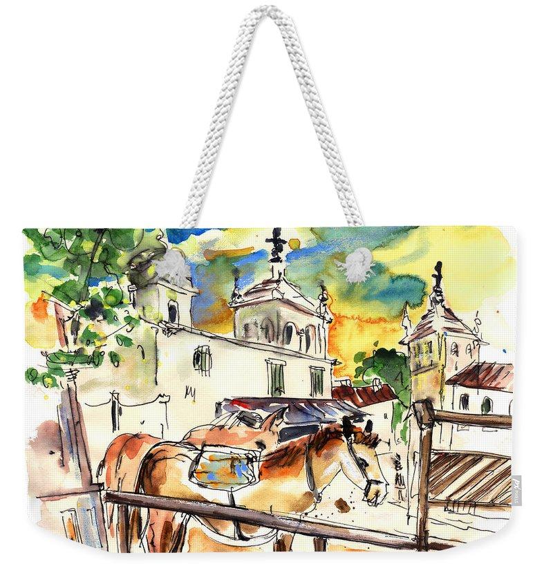 Travel Weekender Tote Bag featuring the painting El Rocio 02 by Miki De Goodaboom
