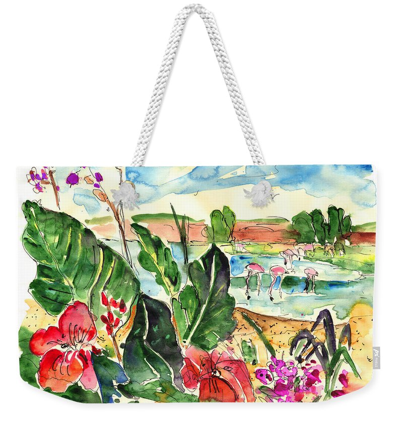 Travel Weekender Tote Bag featuring the painting El Rocio 06 by Miki De Goodaboom