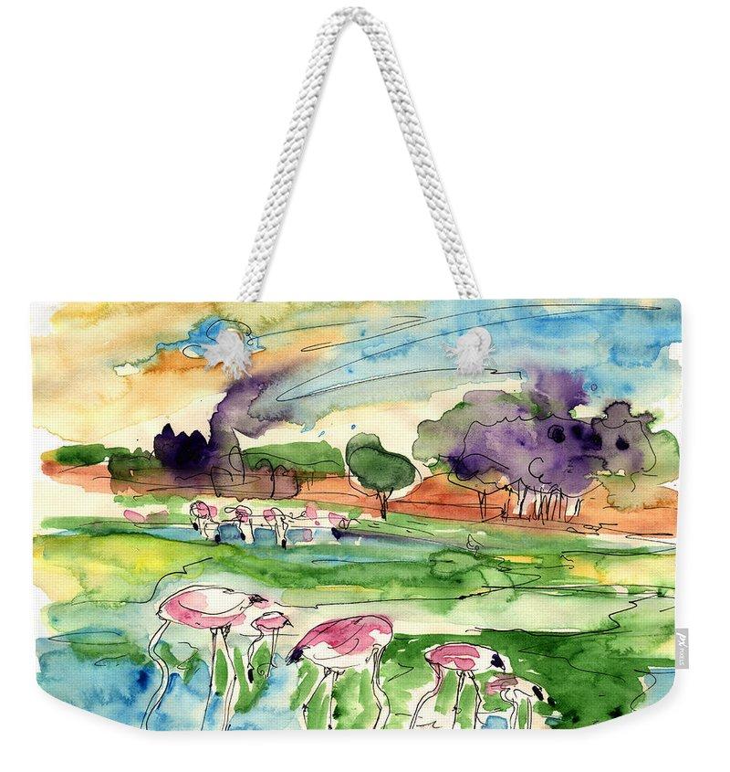 Travel Weekender Tote Bag featuring the painting El Rocio 09 by Miki De Goodaboom