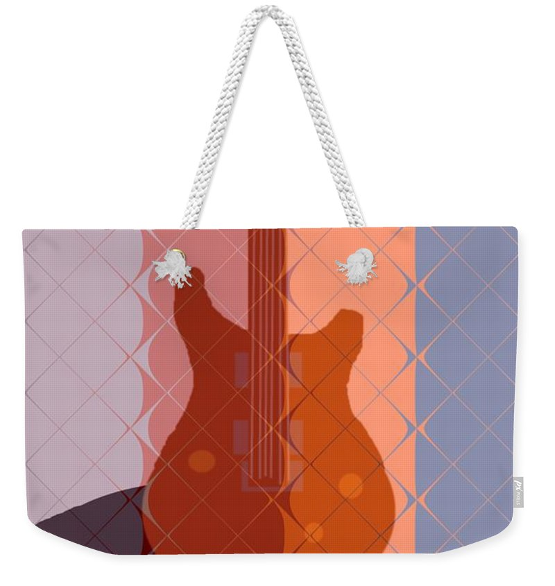 Guitar Weekender Tote Bag featuring the painting Electric Guitar Solo by Pharris Art