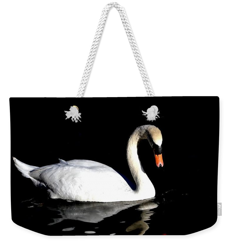 Swan Weekender Tote Bag featuring the photograph Elegance by Deena Stoddard