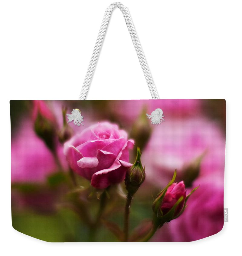 Pink Weekender Tote Bag featuring the photograph Elegant Pink by Mike Reid