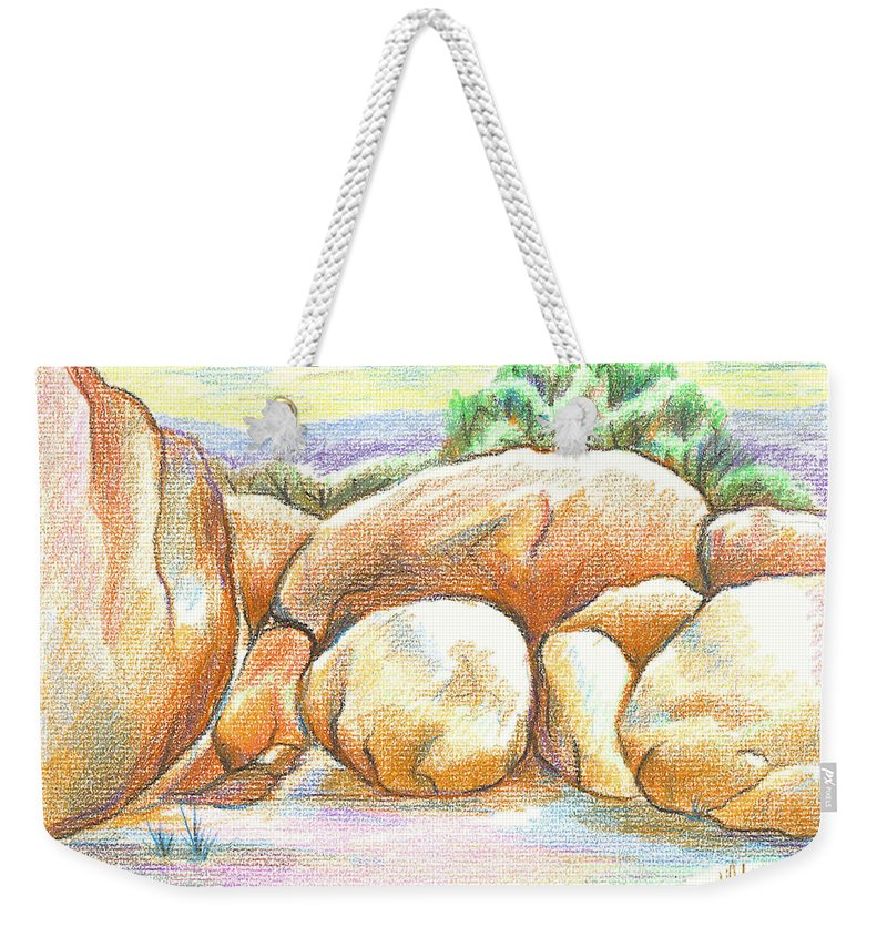 Elephant Rocks State Park Ii No C103 Weekender Tote Bag featuring the painting Elephant Rocks State Park II No C103 by Kip DeVore