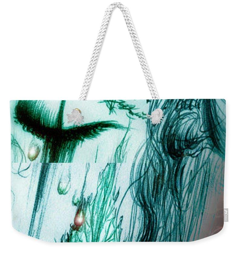 Adolescent Weekender Tote Bag featuring the digital art Ella En Invierno by Ruben Santos