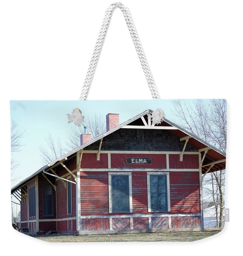 Depot Weekender Tote Bag featuring the photograph Elma Depot by Bonfire Photography
