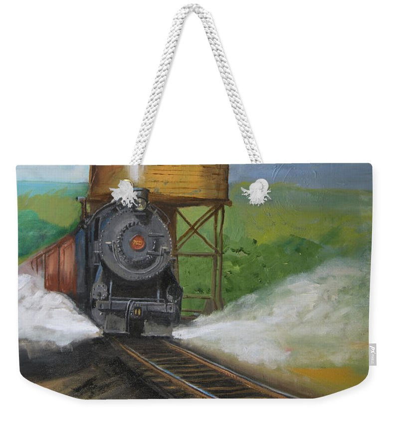 Pennsylvania Weekender Tote Bag featuring the painting Elmira Branch by Christopher Jenkins