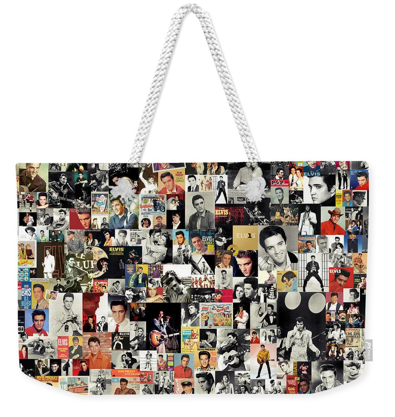 Elvis Presley Weekender Tote Bag featuring the digital art Elvis The King by Zapista OU