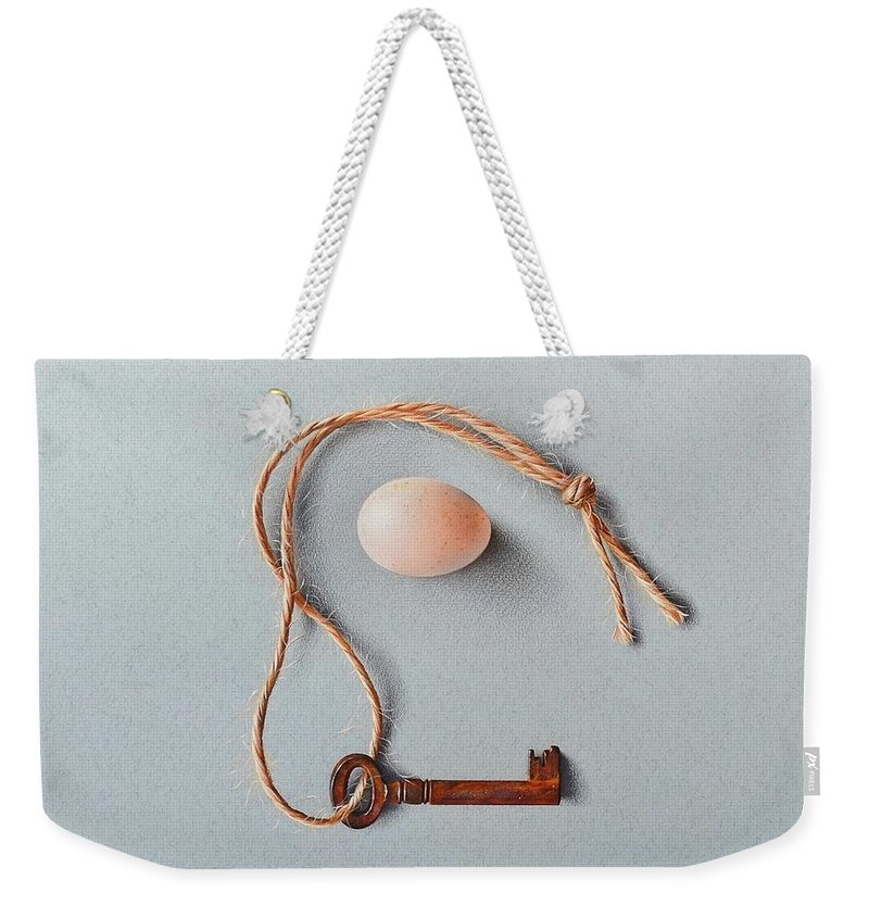 Still Life Weekender Tote Bag featuring the drawing Embrace by Elena Kolotusha