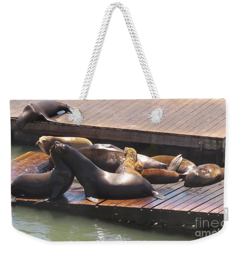 United States Weekender Tote Bag featuring the photograph Embracing by Mary Mikawoz