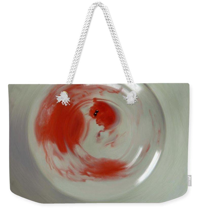 Birth Weekender Tote Bag featuring the digital art Embryogenesis #3 Of 3 by Tom Luca