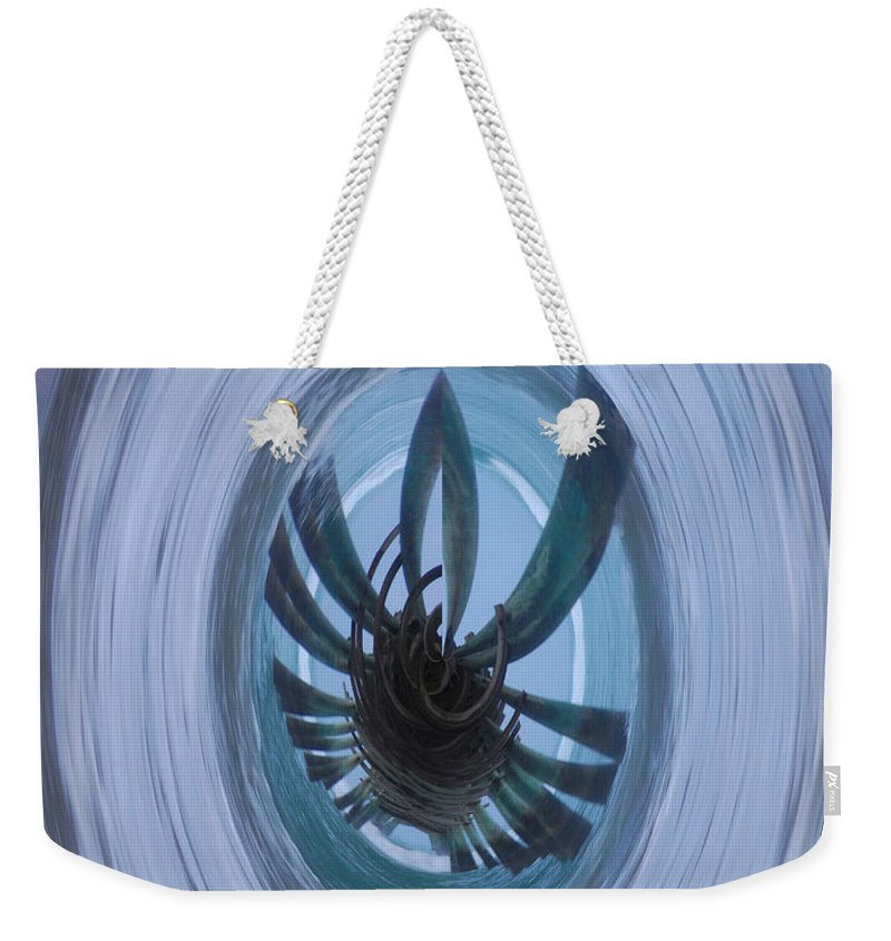 Dam Weekender Tote Bag featuring the photograph Emerald Isle Pier Polar Coordinates by Mim White