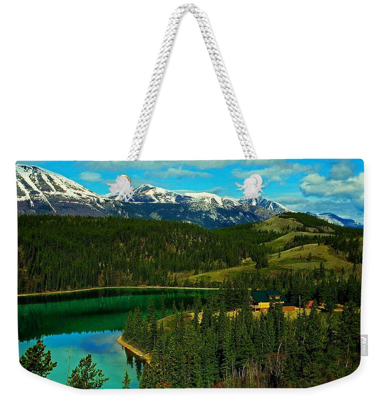 Emerald Weekender Tote Bag featuring the photograph Emerald Lake - Yukon by Juergen Weiss