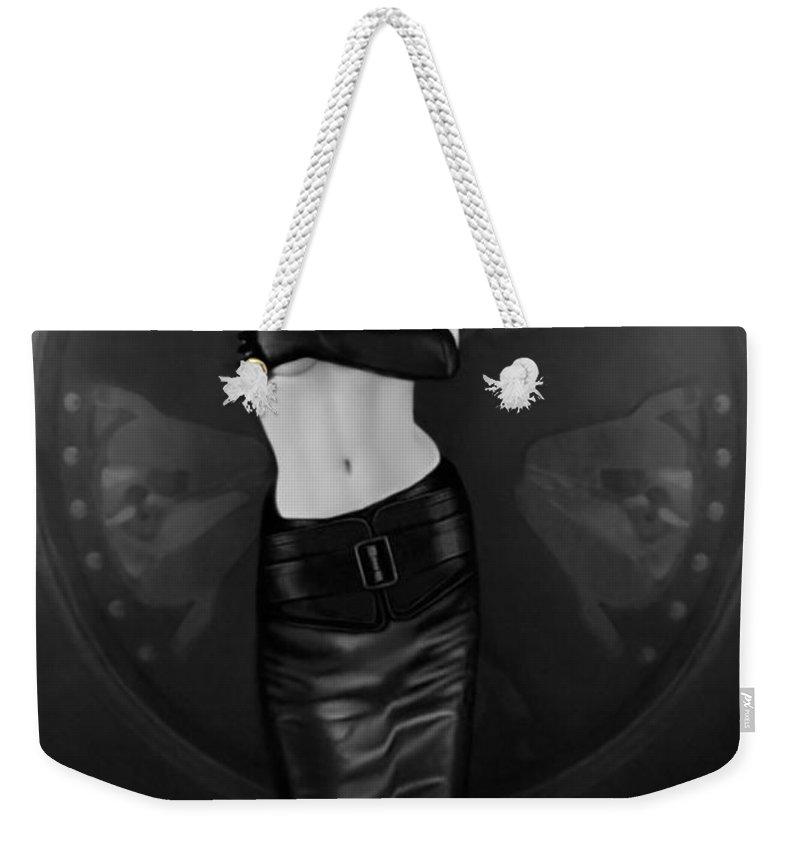 Erotic Weekender Tote Bag featuring the photograph Emotional Blindness - Self Portrait by Jaeda DeWalt