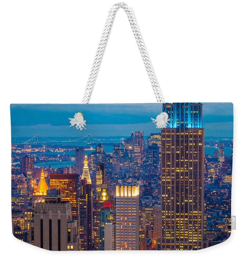 Night City Weekender Tote Bags