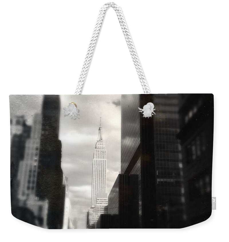 Pedestrian Weekender Tote Bag featuring the photograph Empire State Building by Blackwaterimages