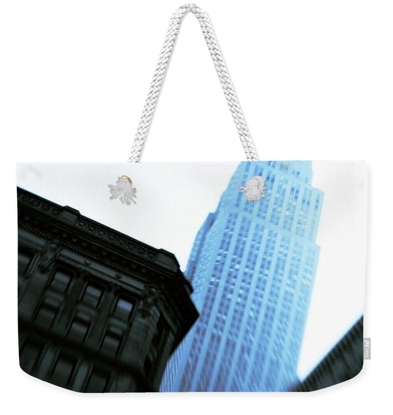 Empire State Building Weekender Tote Bag featuring the photograph Empire State Building by Dave Bowman