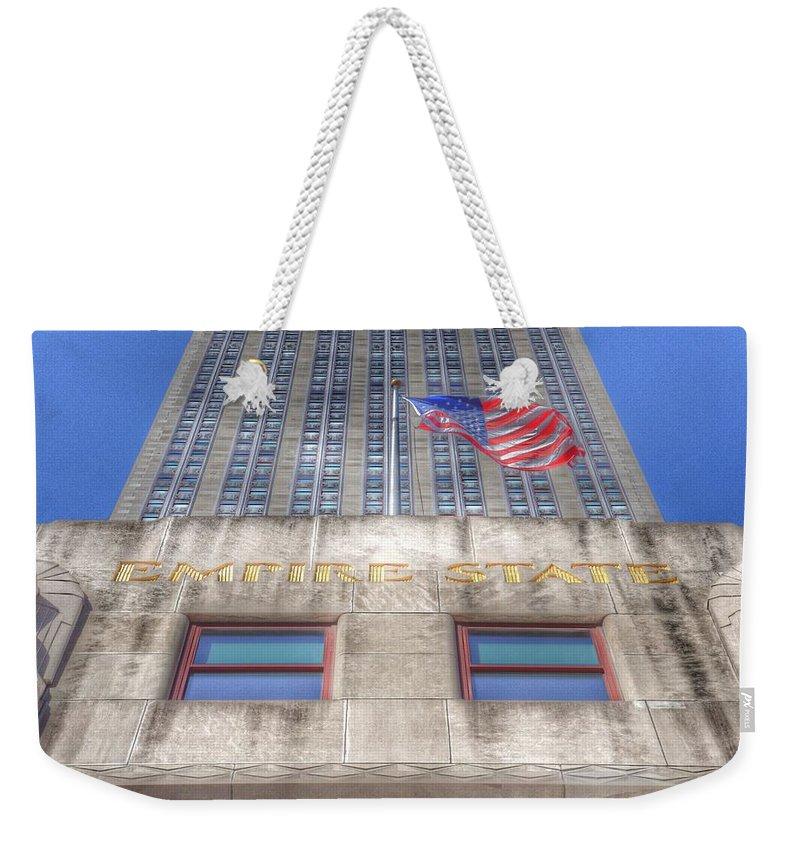 Empire State Building Weekender Tote Bag featuring the photograph Empire State Building by Marianna Mills