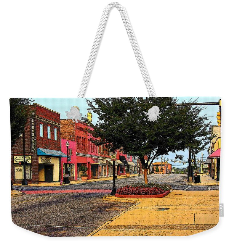 Digital Art Weekender Tote Bag featuring the photograph Empty Town by Rodney Lee Williams