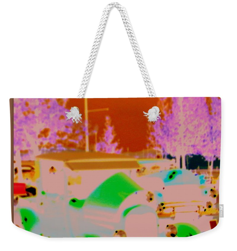 Classic Car Art Weekender Tote Bag featuring the photograph Enchanted Classics by Bobbee Rickard