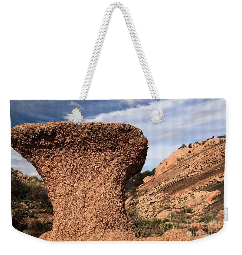 Enchanted Rock Weekender Tote Bag featuring the photograph Enchanted Rock by Adam Jewell