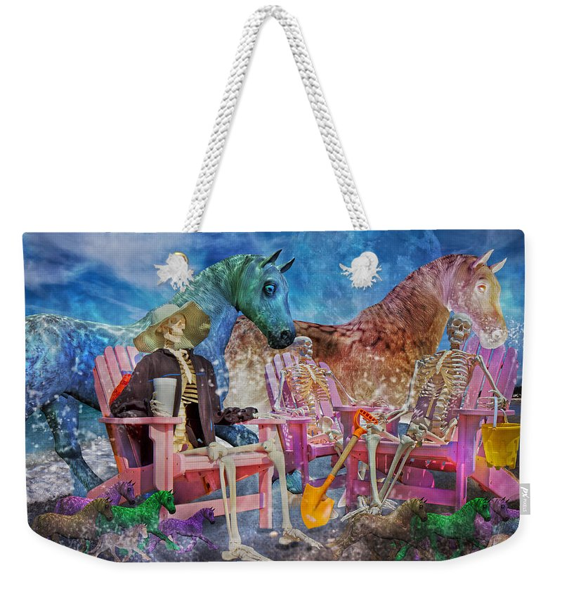 Human Weekender Tote Bag featuring the mixed media Enchanting Humor by Betsy Knapp